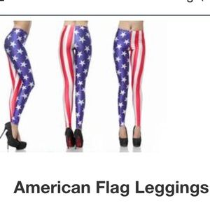 AMERICAN FLAG LEGGINGS! 🇺🇸